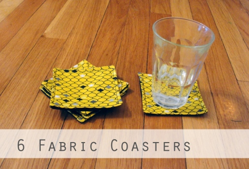fabric coasters handmade diy
