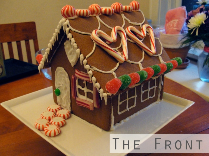 Front of gingerbread House