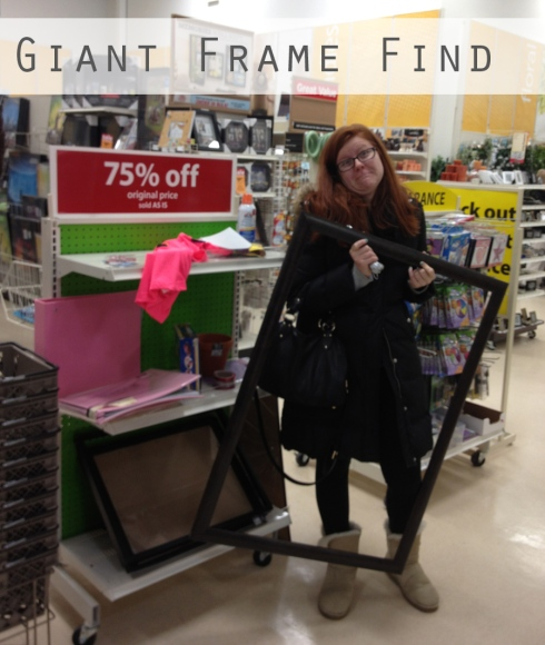 giant frame in store Michaels