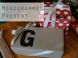 Monogrammed present