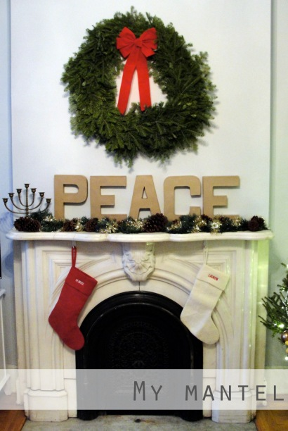 My holiday mantel