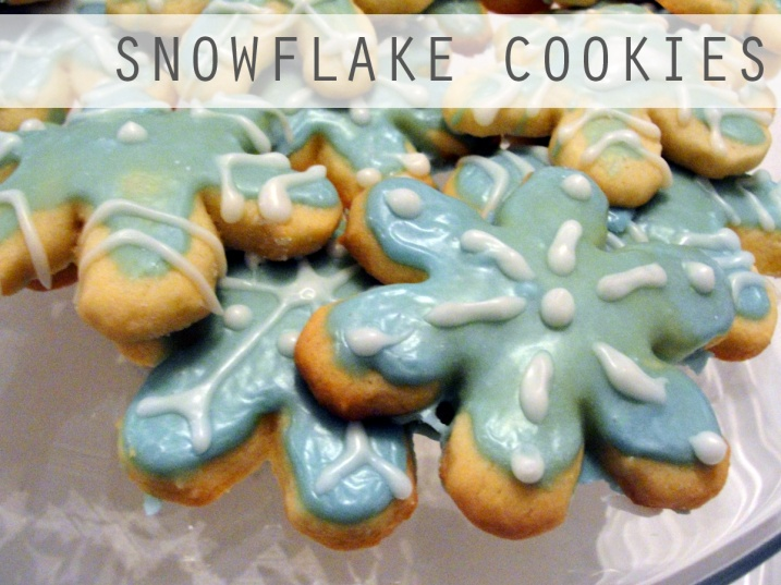 Snowflake rolled sugar cookies