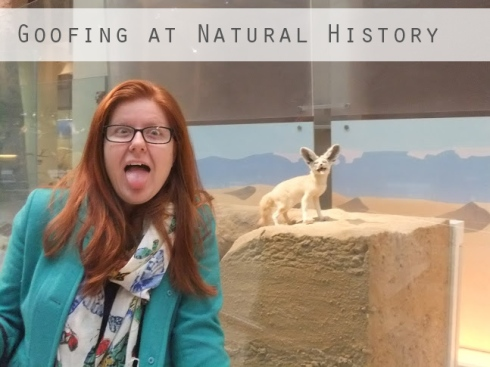 Goofing at Natural History Museum