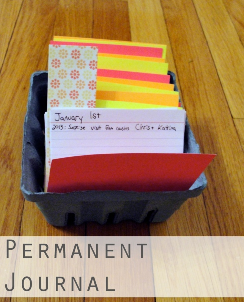 Permanent Journal in strawberry crate
