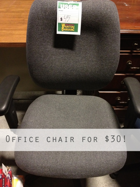 WB Mason Office chair Gray