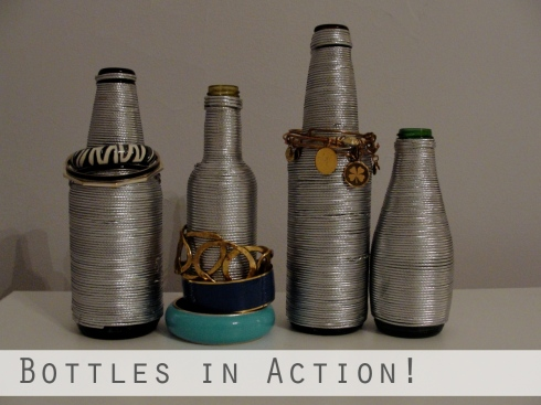 Wrapped bottles for bracelets