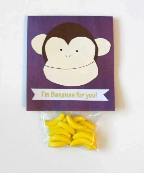 bananas for you monkey valentine