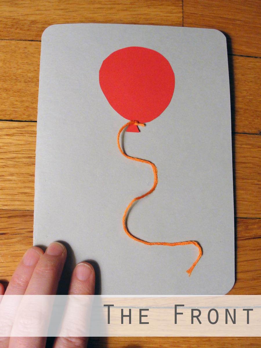 Birthday Card Balloon Front