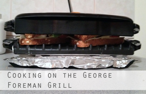 cooking paninis on george foreman grill