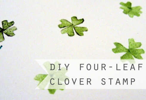 DIY four leafed clover stamp