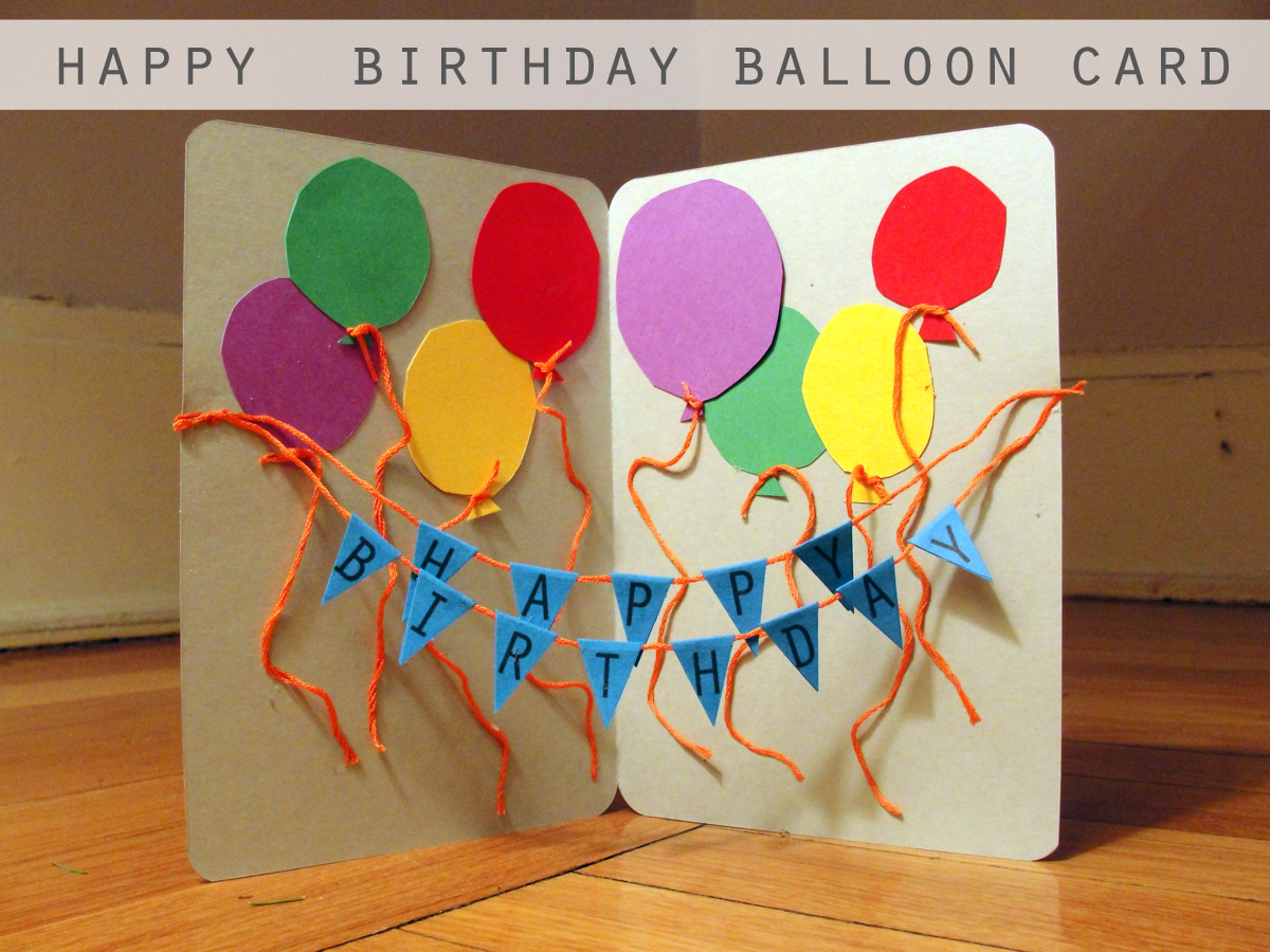 Happy Birthday Balloon Card Diy Craft