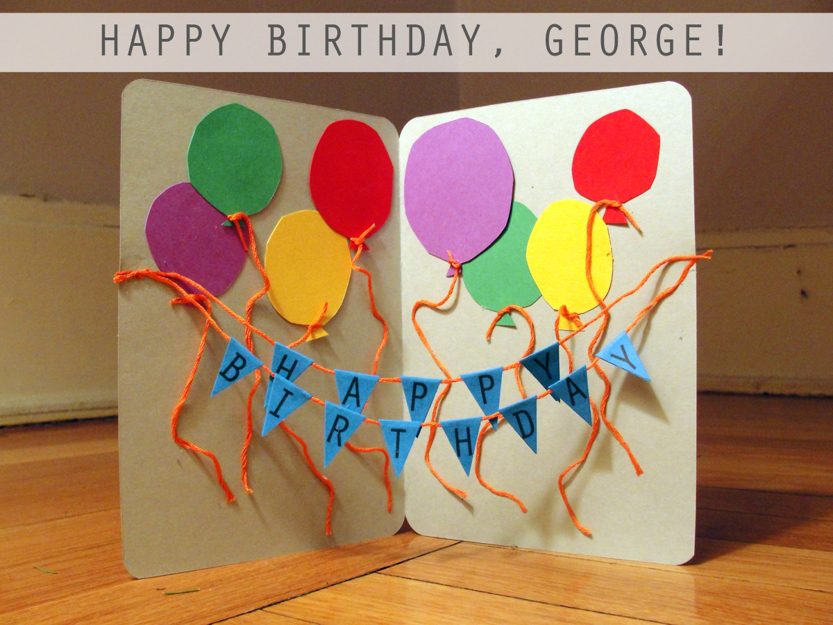 Happy Birthday Balloon Card | The Thrifty Ginger