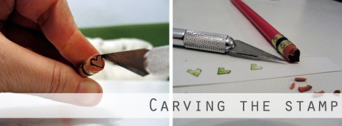 how to carve eraser stamp