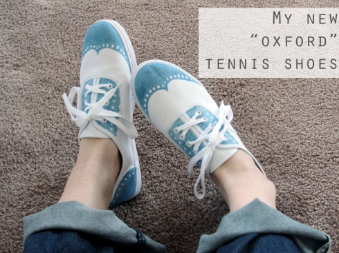 oxford tennis shoes diy craft