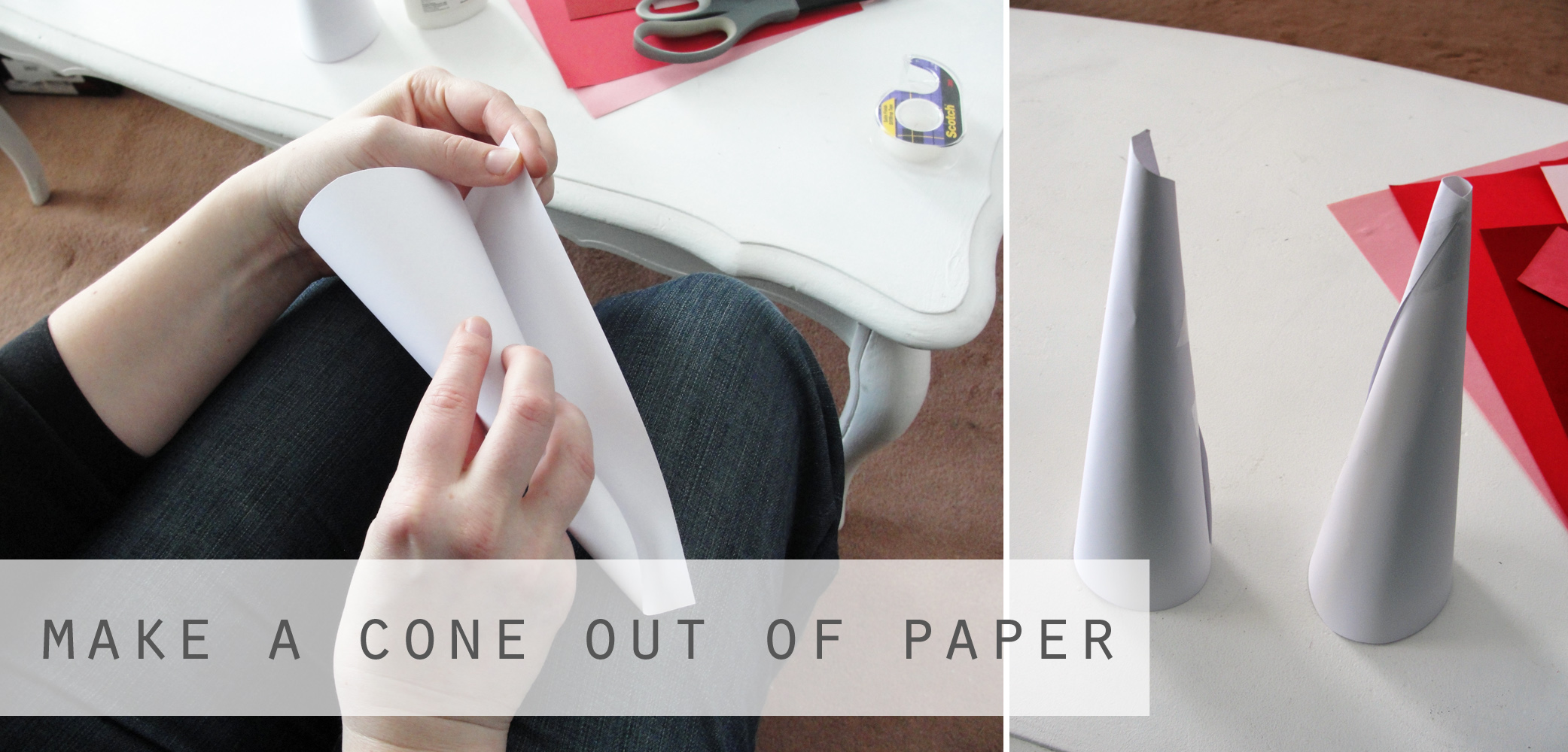 how to make a cone shape out of paper