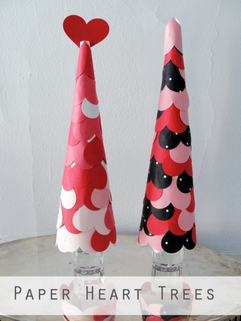 paper heart trees craft
