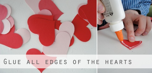 paper heart valentine craft