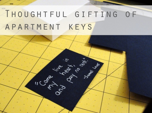 thoughtful gifting of apartment keys