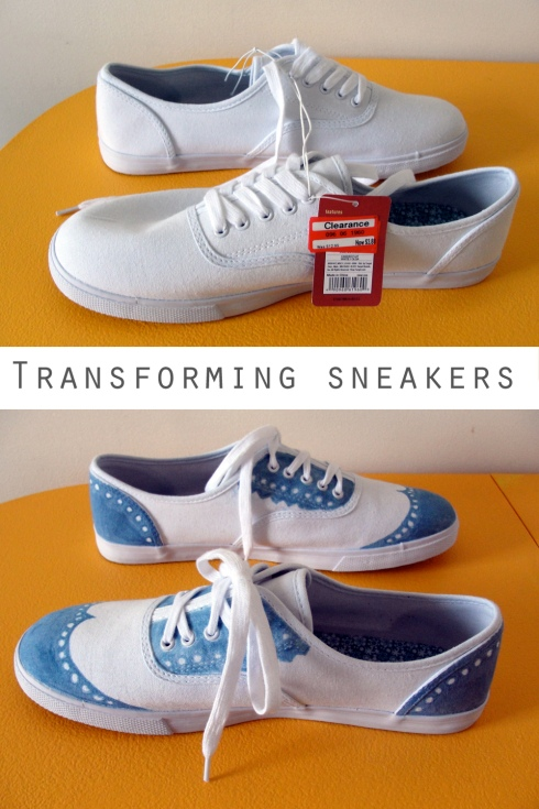 transforming white sneakers shoes
