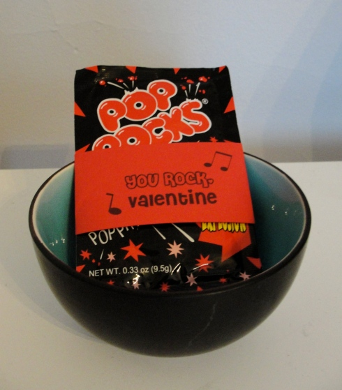 You rock pop rocks valentine