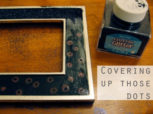 craft picture frame glue glitter