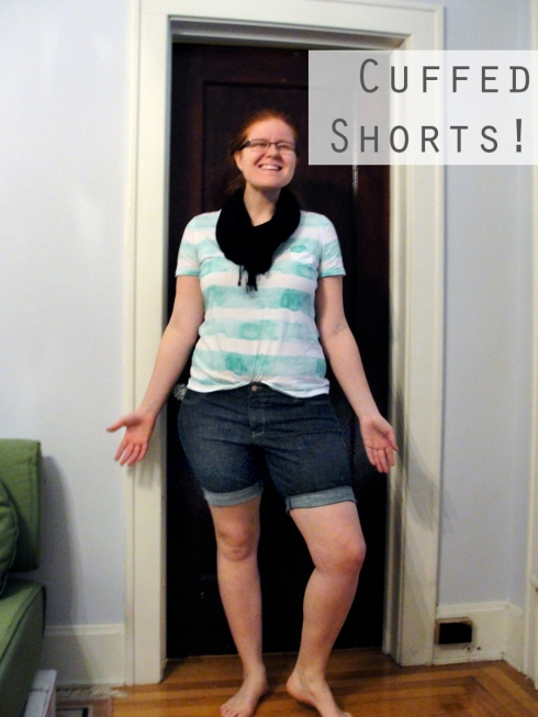 diy cuffed shorts jeans