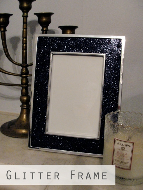diy frame glitter repurpose