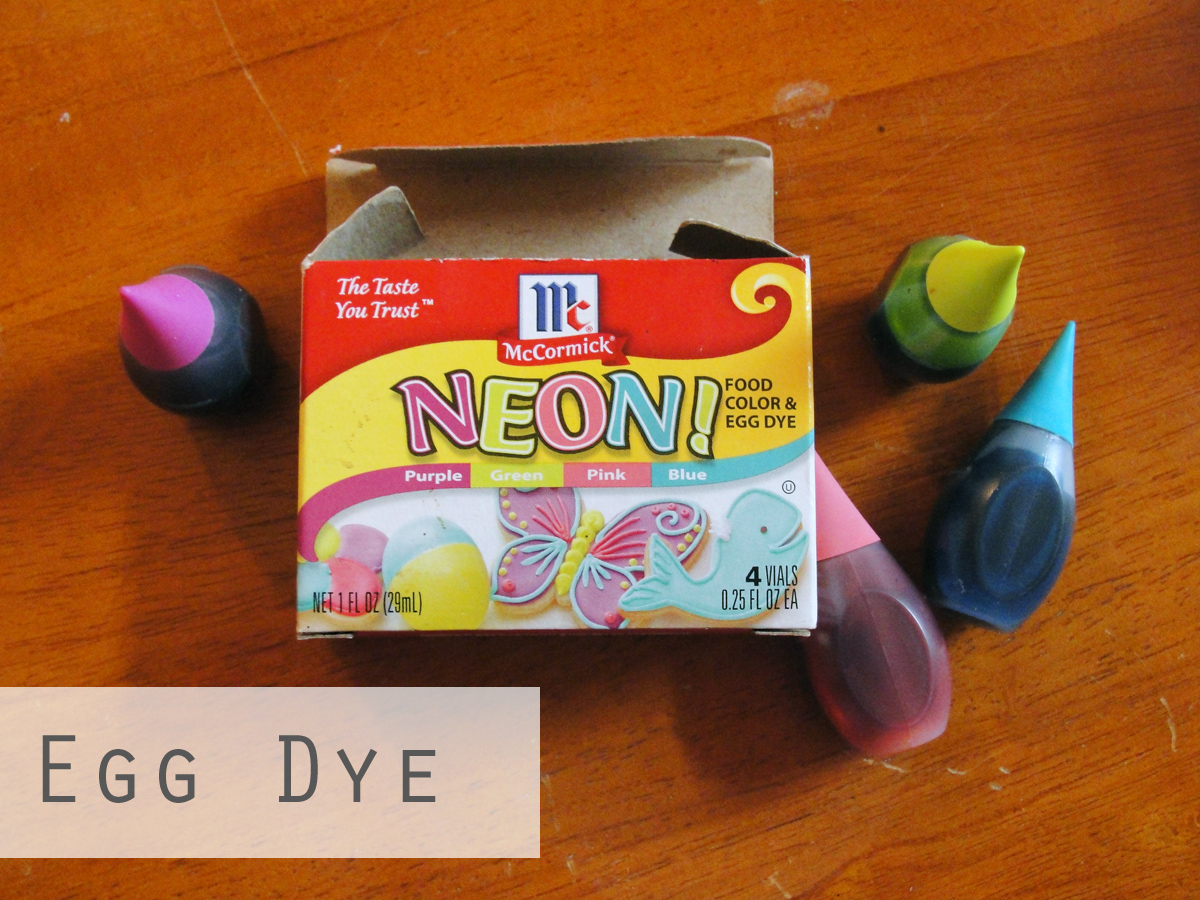 how to make egg dye with food coloring