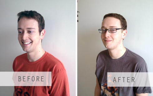 mens haircut at home before and after